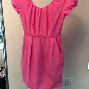 J. Crew Dresses - Jcrew Hot Pink dress with pockets Size 0